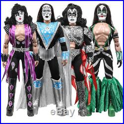 KISS 12 Inch Mego Style Action Figures Series Eight Dynasty Set of all 4