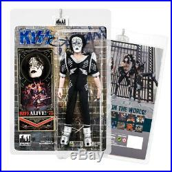 KISS 8 Inch Action Figures Alive Re-Issue Series Set of all 4