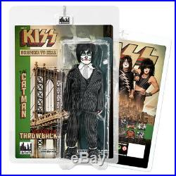 KISS 8 Inch Action Figures Dressed To Kill Throwback Series Set of all 4