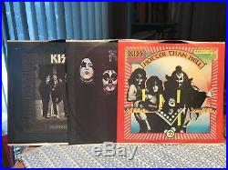 KISS THE ORIGINALS 3 LP SET with all inserts in MINT shape & rare sticker NM/EX