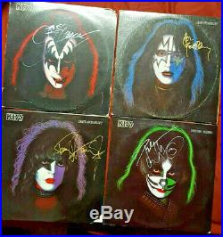 Kiss Autographed Set Of All Four Solo Albums