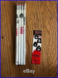 Kiss Original 1978 Pencil set all 4 Wallace pencil co. USA- Rare