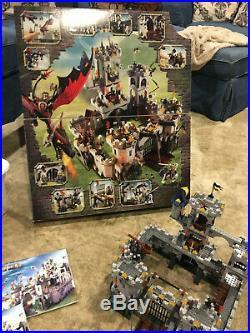 LEGO 7094 Castle Kings Siege 100% Complete all Minifigs, Original Box & Manuals