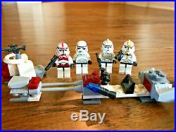 LEGO Star Wars Lot of Nine Retired Sets, all original manuals, 27 minifigures