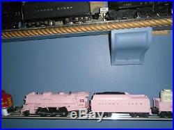 Lionel All Original Paint 1957 Postwar Girls Pink Locomotive 2037 & Tender Set