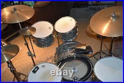 Ludwig 1966 Blue Oyster 6 pc. Vintage set, all original