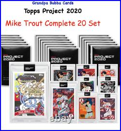 MIKE TROUT COMPLETE TWENTY SET Project 2020 ALL 20 2011 Topps Update RC & 1 FOIL