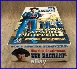 Marx Johnny West Zeb Zachary Complete Box Set Fort Apache Fighters all Original