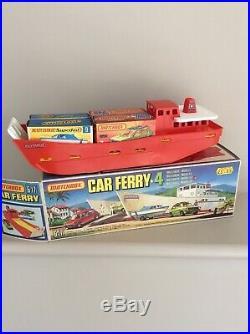 Matchbox G-17 Car Ferry + 4 Gift Set All Original Unused Mint Condition