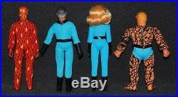 Mego 8 WGSH FANTASTIC FOUR 4 1970s Complete Set Nice ALL ORIGINAL