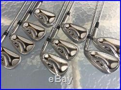 Mens RH-2009 TaylorMade Golf r7 Iron Set 4-PW, AW, LW-Steel Stiff-All Original