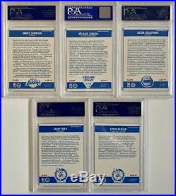 Michael Jordan 1986 Fleer Rc #57 & 1987 Fleer Full Sticker Set #1-11 All Psa 8