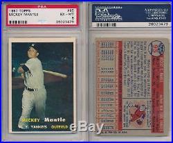 Mickey Mantle Yankees Topps Career Registry Set 1953 1956-1968 ALL PSA 5 6 7 8