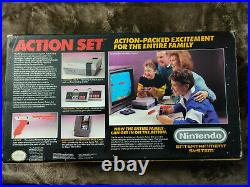 NES Action Set nintendo system 100% complete in box all original pieces WOW MINT