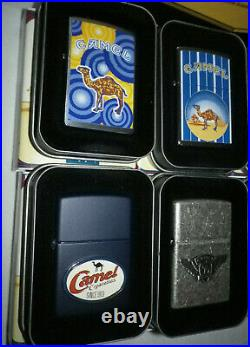 NEW Rare Set Sealed Camel Zippo Lighters in All of the Original Tins and Boxes