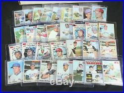 Near Complete Full Set 1970 Topps Baseball 712/720 withAll Stars Mixed Cond. LOOK
