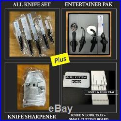 New CUTCO All Knife Set + Entertainer Pak in Original Sealed Plastic & gift box