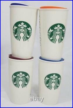 New Design Starbucks Disney World Tumbler Set of 4 Ceramic 12 oz Mug All 4 Parks
