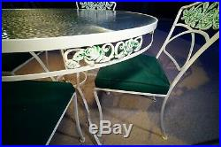 O. W. LEE Normandy Rose Patio Table and chairs 5 Piece Set Vintage MCM Amazing