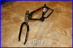Old School BMX 1981 Mongoose Motomag Frame Set All original Black