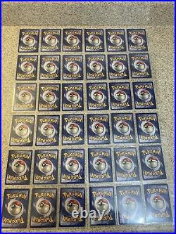 Original 151 Pokemon Cards Complete Set Base Jungle Fossil All 46 Holos EX/NM