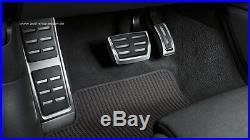 Original Audi A4 A5 8W Fußstütze und Pedalkappen Edelstahl für Automatikfahrzeug