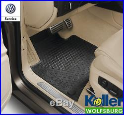 Original Volkswagen Touareg 7P V8 TDI V6 Gummimatten VW Fussmatten 4-tlg. SET