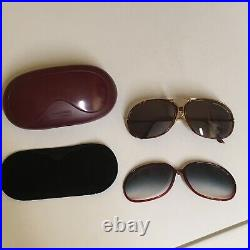 PORSCHE DESIGN CARRERA LARGE 5631 SUNGLASSES With2 SETS OF NOS LENSES WithCASE