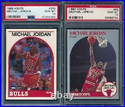 PSA 10 Hoops Michael Jordan Complete Set 1989-1998 + 1989-1993 All Star cards