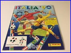 Panini Italia 90 Album Complete With All Stickers Full Set Rare World Cup 1990