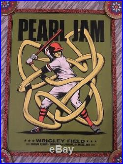 Pearl Jam Chicago Wrigley Field Poster Set (ALL 5) August 18th 20th 2018