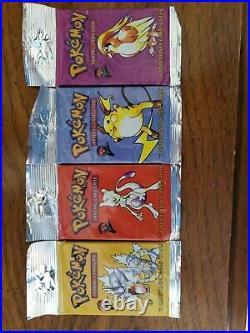 Pokemon base set 2 booster pack-english (4 Original factory Sealed All Artworks)