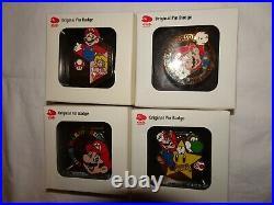 RARE Club Nintendo Original Pin Badge Limited Super Mario ALL 4 type Pins Set