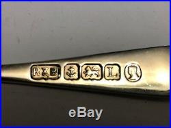 Rare Cased Set Sterling Silver Spoons Roberts & Belk All Assay Marks