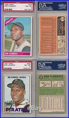Roberto Clemente PIRATES Topps Career Registry Set Rc 1955-1973 ALL PSA 6 7 8 9