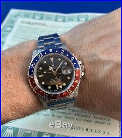 Rolex GMT Master 16700 Vintage Pepsi, Full Set, box & papers, all original 1991