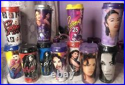 SELENA STRIPES CUPS THE WHOLE SET Selena Quintanilla Stripes Cups All Years