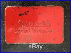 SNAP-ON vintage 1/4drive socket set withoriginal metal case16 PCUSA FREE SHIP