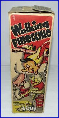 Scarce All Original Boxed Setn. Mint Disney1939 Pinocchio Marx Tin Wind-up Toy