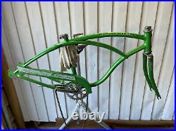 Schwinn Stingray 1964 Lime Deluxe 100% All ORIGINAL Frame Set Nice HTF RARE