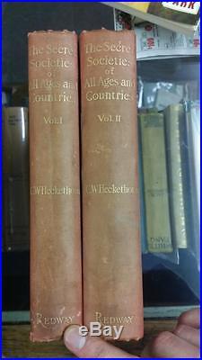 Secret Societies All Ages & Countries Original 2 Volume Set Heckethorn Old VTG