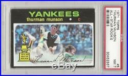 Set Break -1971 Topps # 5 Thurman Munson, Psa 7 Nm, All Star Rookie, L@@k