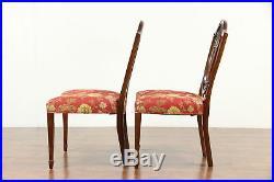 Set of 4 Shield Back Mahogany Dining Chairs, All Original, Signed Baker #30219