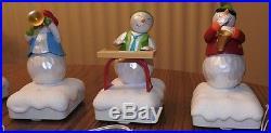 Set of 5 HALLMARK WIRELESS SNOWMAN BAND W Original Tags 2010-2011 All Work EUC