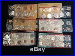 Silver Mint Sets from 1959-1964, Original Government Issue, All 6 sets