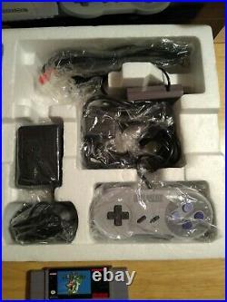Super Nintendo SNES Console Super Set SNS-001 All Original 100% Complete