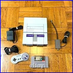 Super Nintendo SNES Original Console OEM System Set with Mario All Stars WORKING