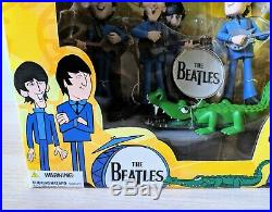 THE BEATLES McFARLANE Deluxe Boxed Set All Figures, Stage & Crocodile