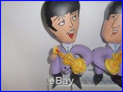 The Beatles 1966 Nems Inflatable Blow Up Dolls All 4 Set Lux Soaps Awesome
