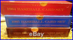 Topps Tiffany Set Collection 84-91 main/traded + 89/90 Bowman ALL SEALED